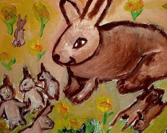 Happy Bunny Family