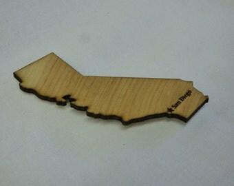 San Diego - California Wood Magnet
