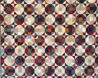 Scrappy Christmas Throw Quilt, Hand Made Patchwork Quilt, Christmas Quilt
