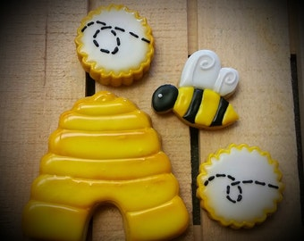 Bumblebee - Bee - Beehive Cookies!  Busy Bee!  One Dozen