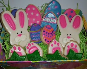 Easter Bunny Faces, Feet and Easter Eggs