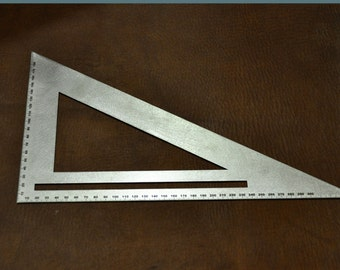 Stainless steel ruler - triangle for leather work