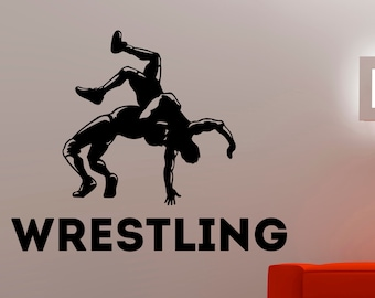 Wrestling Wall Decal Etsy