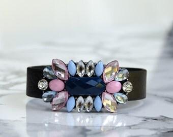 Floral Bracelet Jewel Cluster Pastel Pretty | 50% OFF