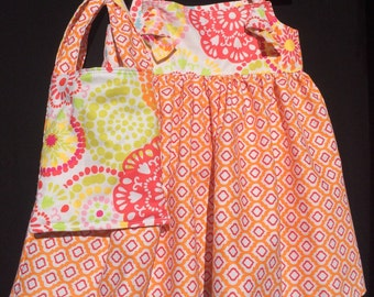 Girls Knot Dress Ruffled Capris And Matching Hand Bag - Girl - 4T - Dress