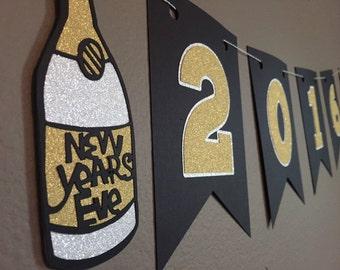 2016 New Years Glitter Banner