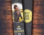 Happy father day  Bookmark  Template , Instant Download