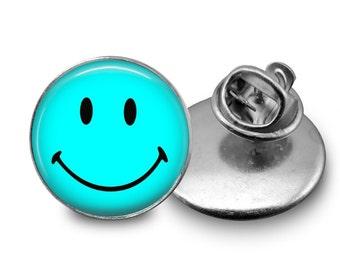 Smiley emoji Glass Tie Tack 16mm Tie Pin Lapel pin