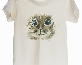 Water Color Cat Organic T-shirt for Kids