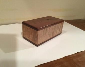 Black Walnut and figured Maple Urn