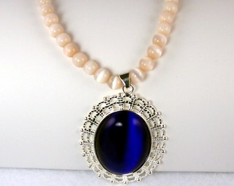 Cat's Eye Pendant and Necklace