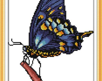 Cross Stitch Kit The butterfly DMC threads