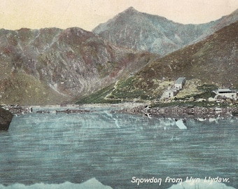 "Original Vintage Greeting Card,""Snowdon From Llyn Llydaw"" Post Card, Birthday Card, Vintage Photo Card, Antique Picture H"