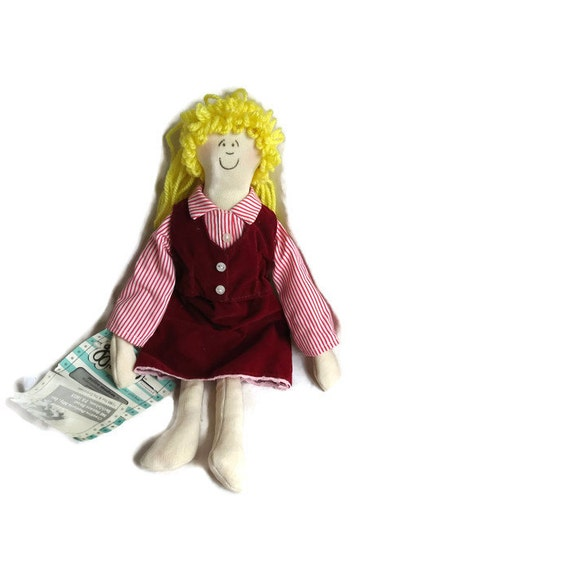 Gglitch doll ~ Millie Modem ~ telecommunications supervisor ~ Technology gift ~ gift for geek ~ Vintage doll ~ collectible doll