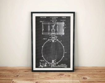 Snare Drum Musical Instrument Patent Art Poster