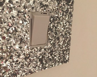 Glitter fabric light switch covers for UK switches only FREE UK Shipping