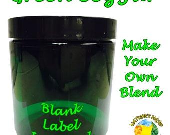 8oz Green Jar and Label
