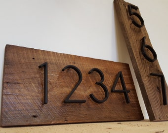 Gorgeous house number sign