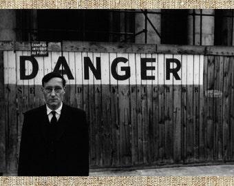 William Burroughs photograph, William Burroughs black and white photo print, beatniks vintage photograph