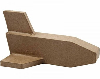 3D Small Plane made from recycled brown papier mache, kids crafts, party bags, decopatch, decoupage