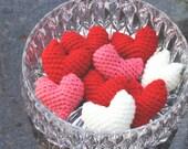 Valentines Crochet Hearts Set of 9