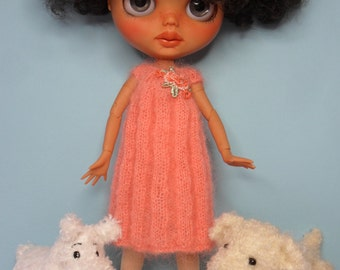 BLYTHE DOLL Fine Mohair Knitted Dress ONLY