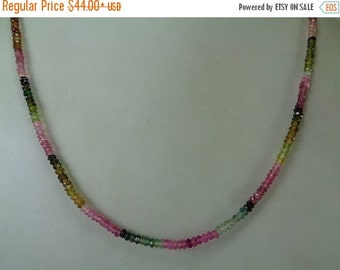 10% Off Natural Multi Tourmaline Beaded Necklace, October Birthstone Necklace, Healing Necklace, Chakra Necklace