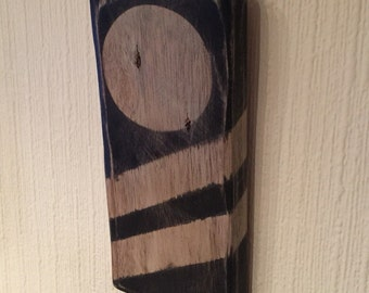 Recycled wood wall art - Geo range - 2 stripe circle