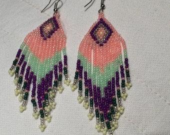 Colourful Beaded Earrings