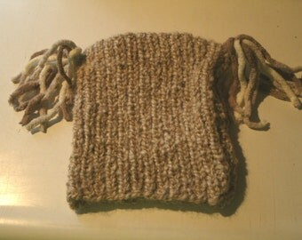 Handmade Baby Cap with Ponytail Fringes