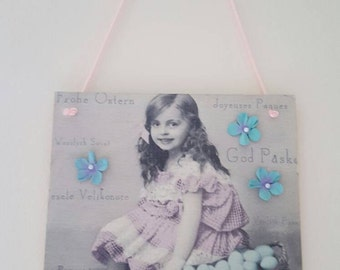 Shabby Chic Easter Plaque