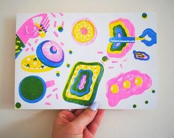 Cosmic Breakfast Riso Print