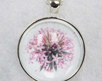 Pink Allium pendant