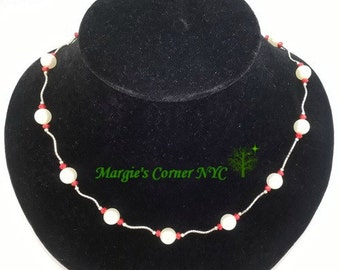 Ruby & Pearl Heaven Necklace