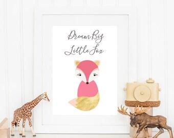 Dream Big Little Fox Print - Fox Print - Nursery Print