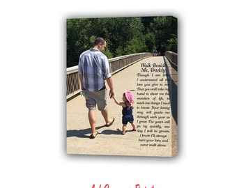 Walk with me daddy, Father Gift, Gift For Dad, First Fathers Day, Gift For Husband, Birthday Gift For Dad, Father Daughter gift, papa gift