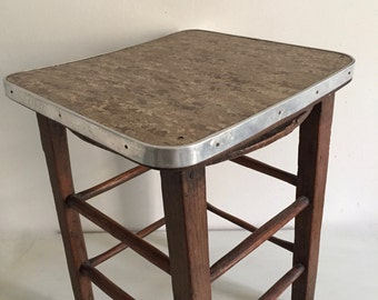 Old stool with strapping