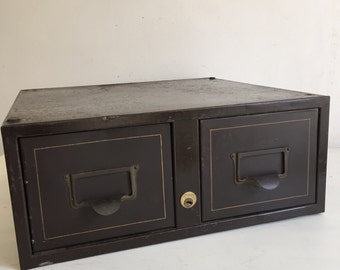 Mimeograph records two-drawer
