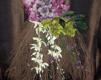 Purple and Green Wedding Broom