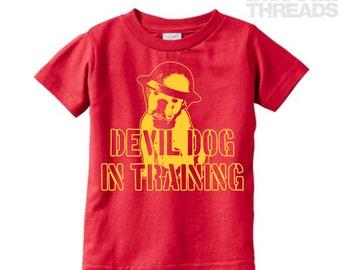 Devil Dog in Training (Infant/Toddler t-shirt) / Military / Military brat / Military child / Military kid / USMC / Marines / Devil pup
