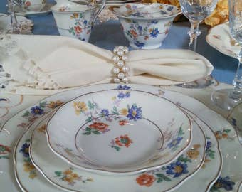 Vintage 1936 Theodore Haviland NY Limoges China, Normandie's Garden, 1936 Haviland Limoges China Service for 8 plus extras, Fine Dining,
