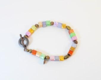 Colored Square Bracelet