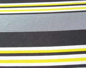Striped JERSEY black and white yellow (480807)