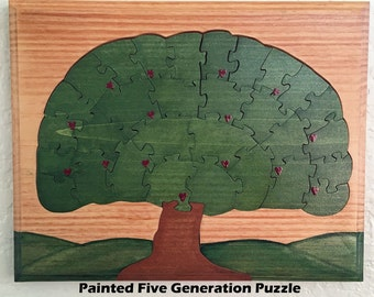 Five Generation Family Tree Puzzle