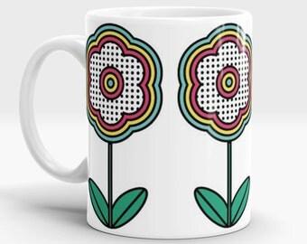 Pop Flower mug - Pop Art - Retro - 60s