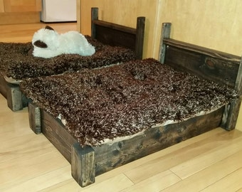 Hand made pallet wood pet bed.