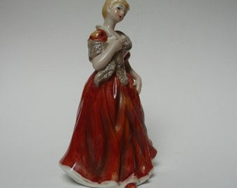 Vintage  Alfretto Porcelain Hand painted Lady Figurine