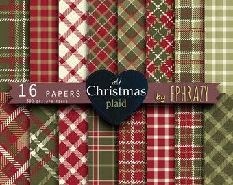 Christmas plaid digital paper. Tartan digital paper. Christmas. Christmas paper. Plaid paper. Plaid digital paper.