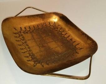 Handmade Israel Brass Serving Tray