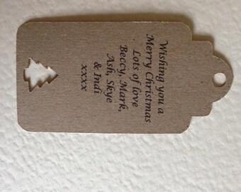 10 Personalised Christmas tags